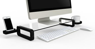 UBOARD Basic – Tempered Glass Monitor Stand Shelf Multiboard for Your PC