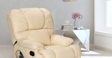Giantex HW52719BE Sofa Heating Set and 8 Vibrating Modes