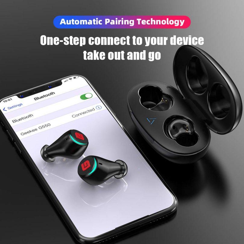 Geekee Bluetooth 5.0 True Wireless Earbuds