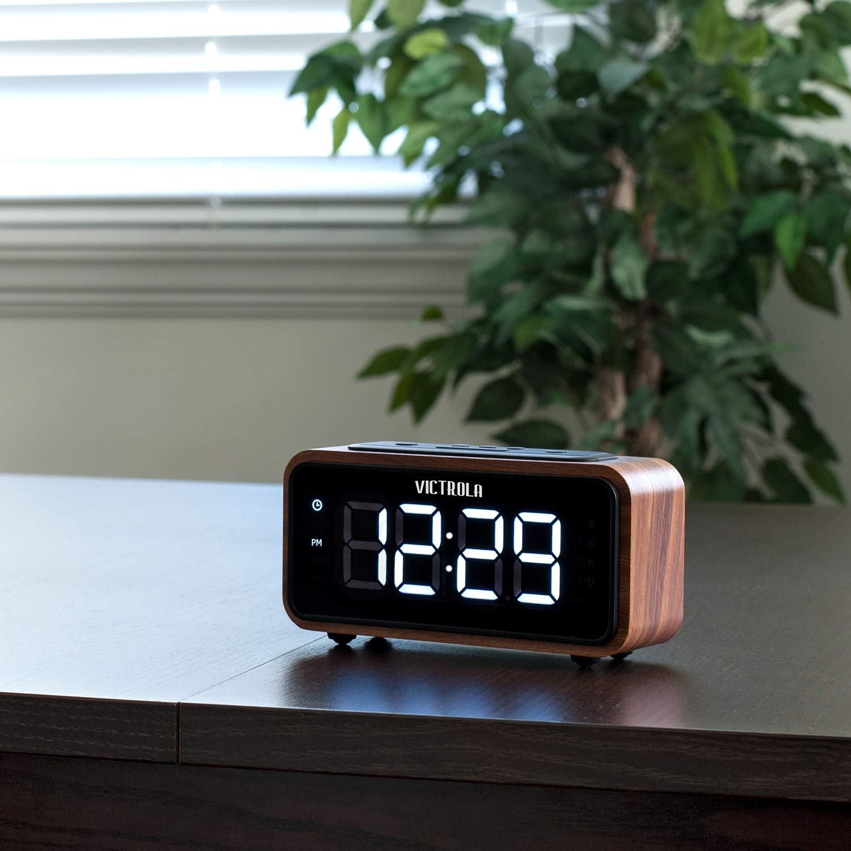 Victrola Bedside Alarm Clock with FM Radio