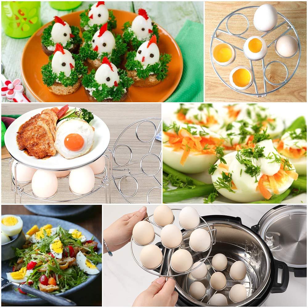 Aozita Multipurpose Stackable Egg Steamer Rack Trivet for Instant Pot Accessories