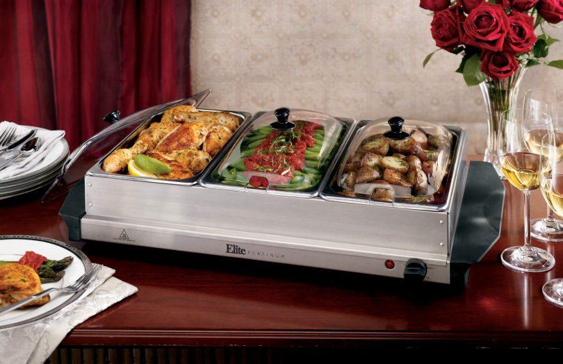 Elite Platinum EWM-6171 Triple Server Food Warmer