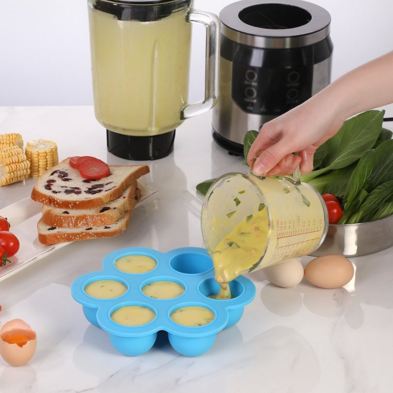 Aozita Silicone Egg Bites Molds for Instant Pot Accessories