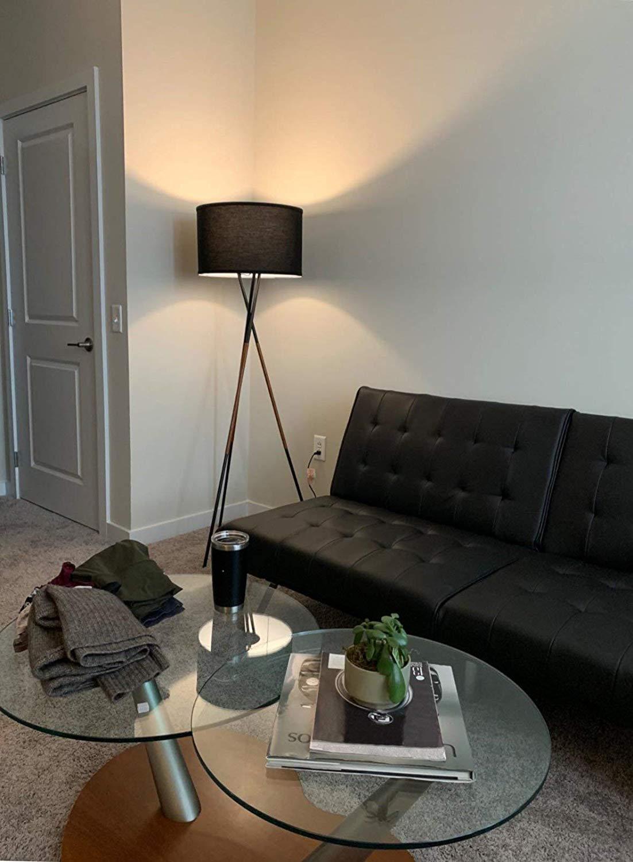 Kira Home Sadie 61″ Mid Century Modern Tripod LED Floor Lamp