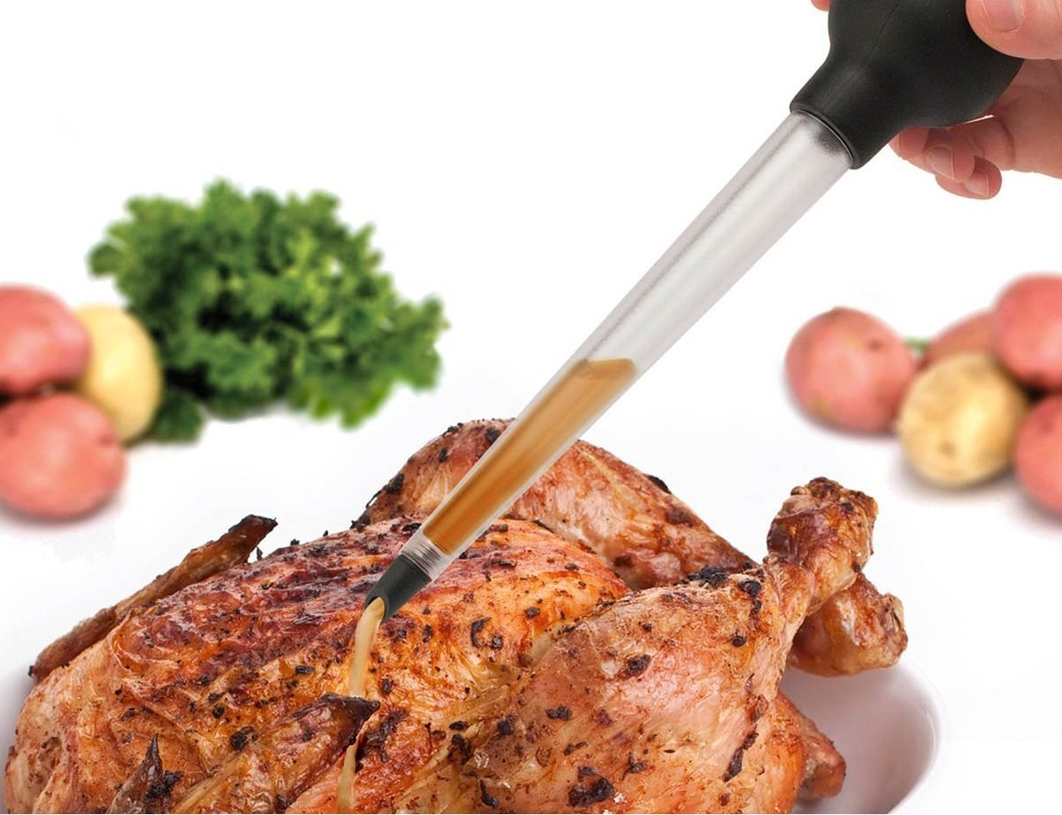Tovolo 80-11001P Easy-to-Use, Angle Tipped, Dripless Baster for Turkey Roasting