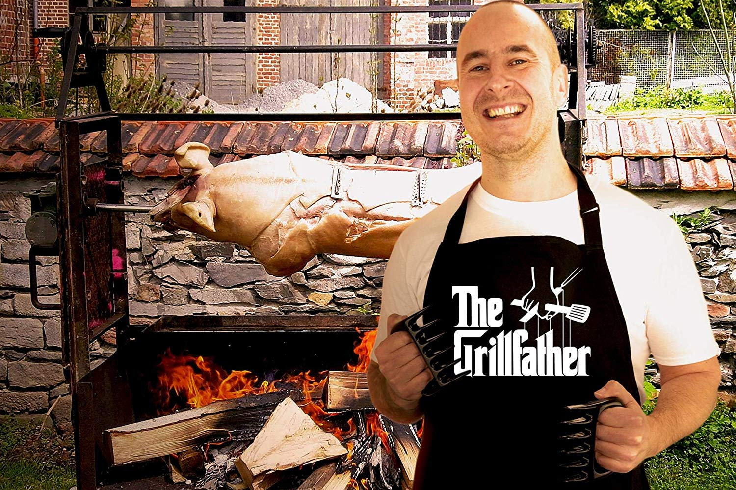 BBQ Apron Funny Grill Aprons for Men The Grillfather