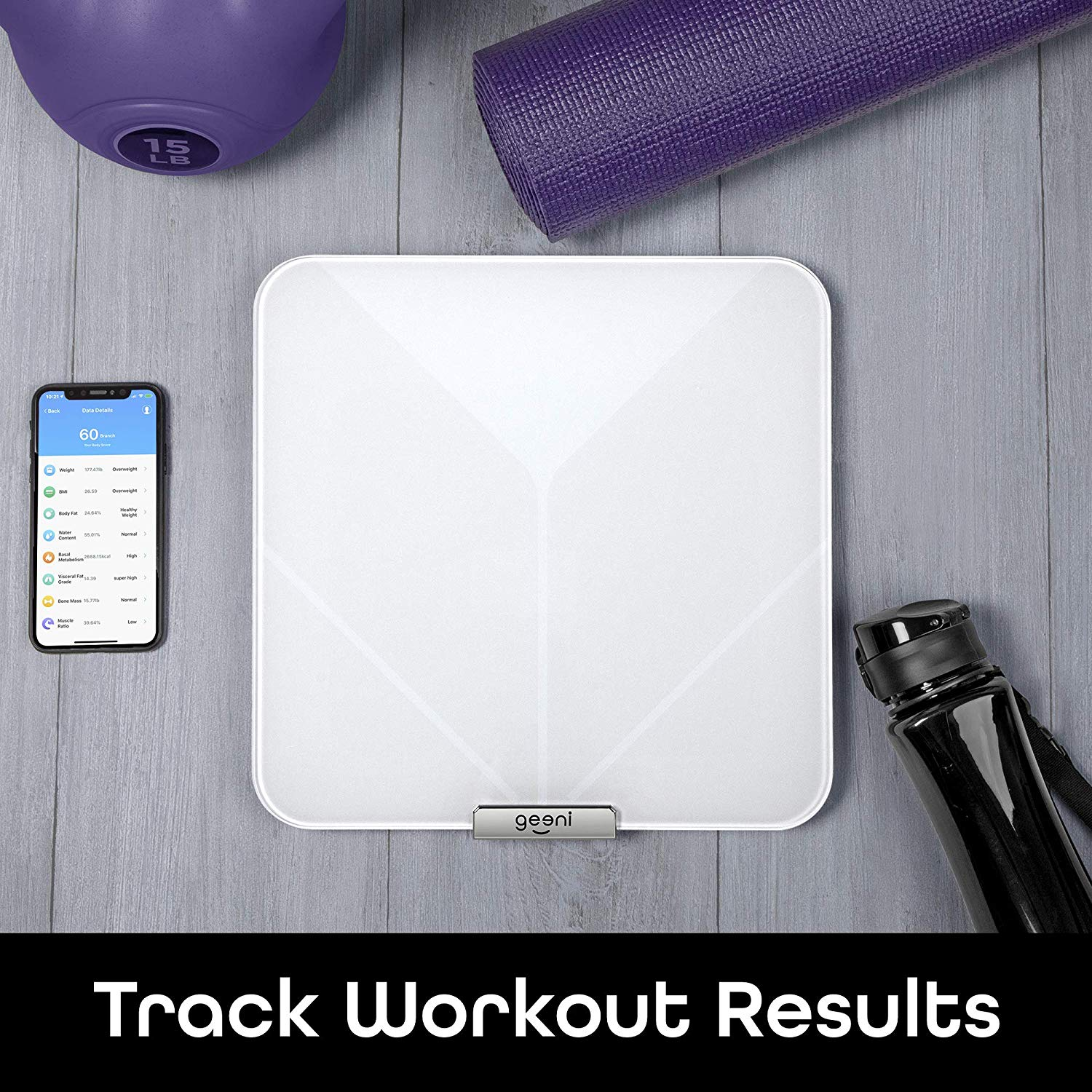Geeni Balance Body Composition Compatible with Apple Health and Google Fit