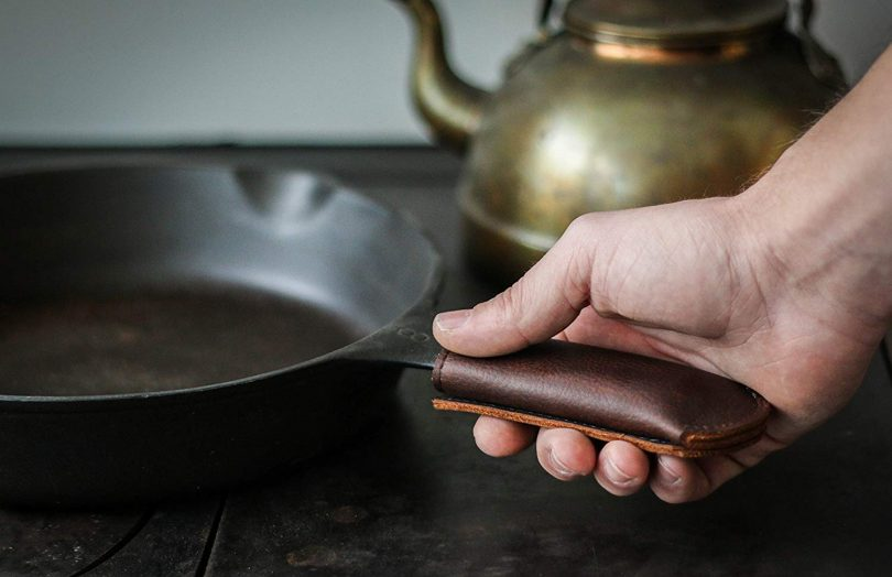 Leather Cast Iron Skillet Pan Handle Cover