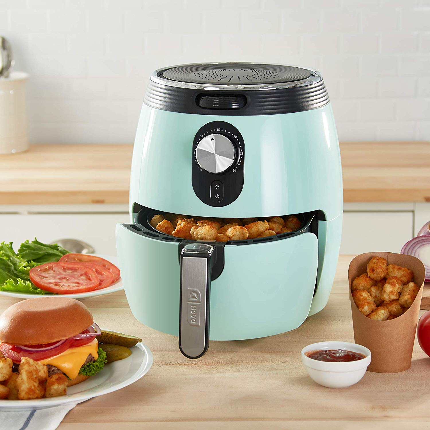 DASH DMAF355GBAQ02 Deluxe Electric Air Fryer + Oven Cooker
