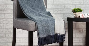 spencer & whitney Blanket Throws Wool Blanket Denim Blue