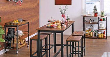 VASAGLE ALINRU Bar Table Set