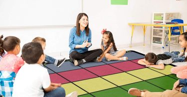 Flagship Carpets FE126-58A Learning Grid Children's