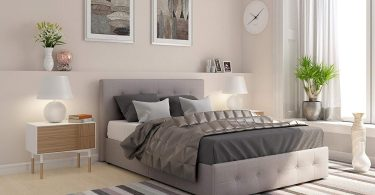 DHP Rose Upholstered Platform Bed
