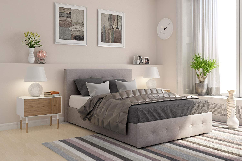 DHP Rose Upholstered Platform Bed