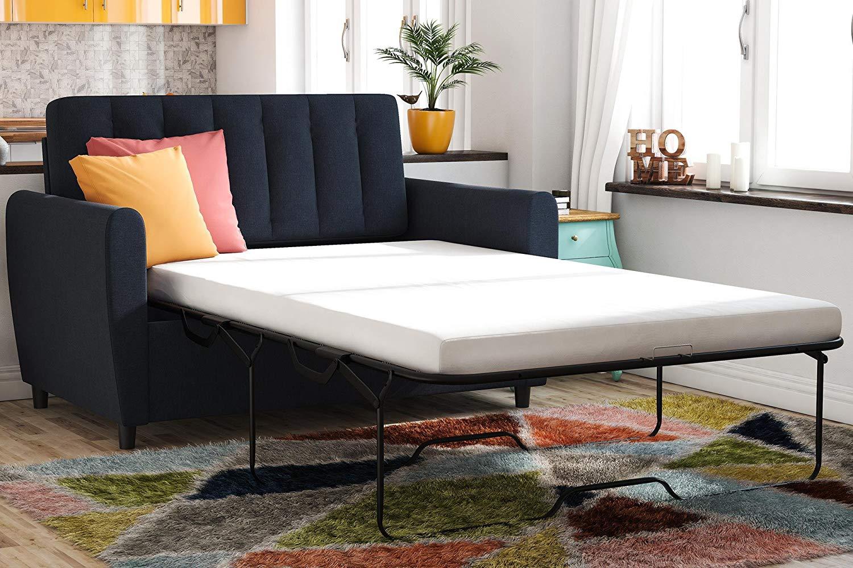 Novogratz Brittany Sleeper Sofa Sleeper with Memory Foam Mattress