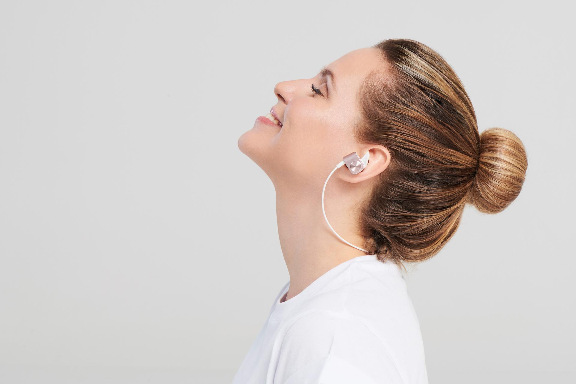 Bellabeat Whisper – Wireless Meditation Earphones Metallic Pink