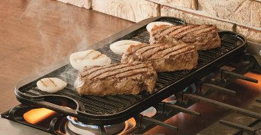Lodge LPGI3PLT Pro-Grid Cast Iron Reversible 20″ x 10.44″ Grill/Griddle Pan