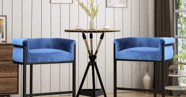 Christopher Knight Home Best Modern Wide Bucket Velvet Barstool