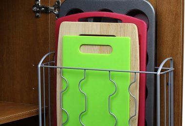SimpleHouseware Over the Cabinet Door Organizer Holder
