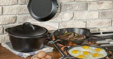 AmazonBasics Enameled Cast Iron Covered Dutch Oven
