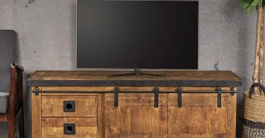Christopher Knight Home Madge Modern Industrial Mango Wood TV Stand