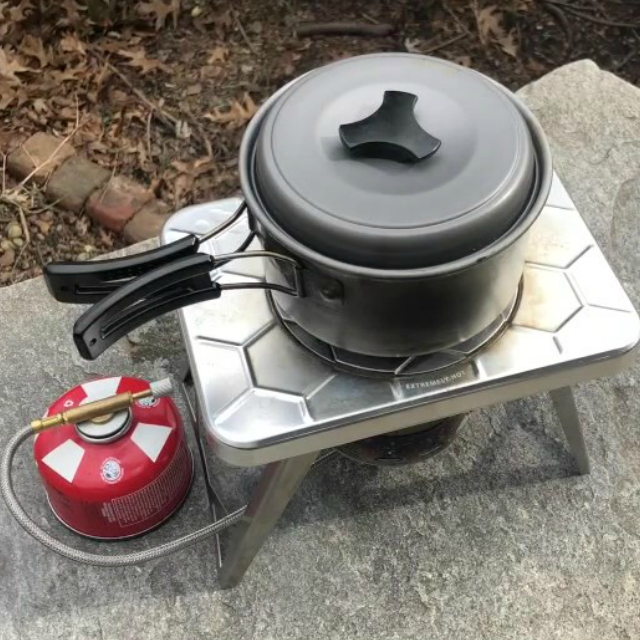 nCamp Camping Stove Gas Adapter for Outdoor Cooking