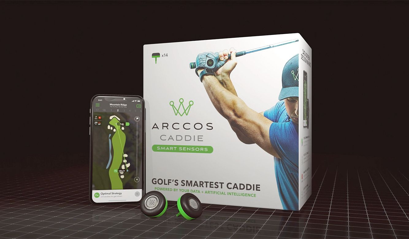 Arccos Caddie Smart Sensors Featuring Golf's First-Ever A.I. Powered GPS Rangefinder