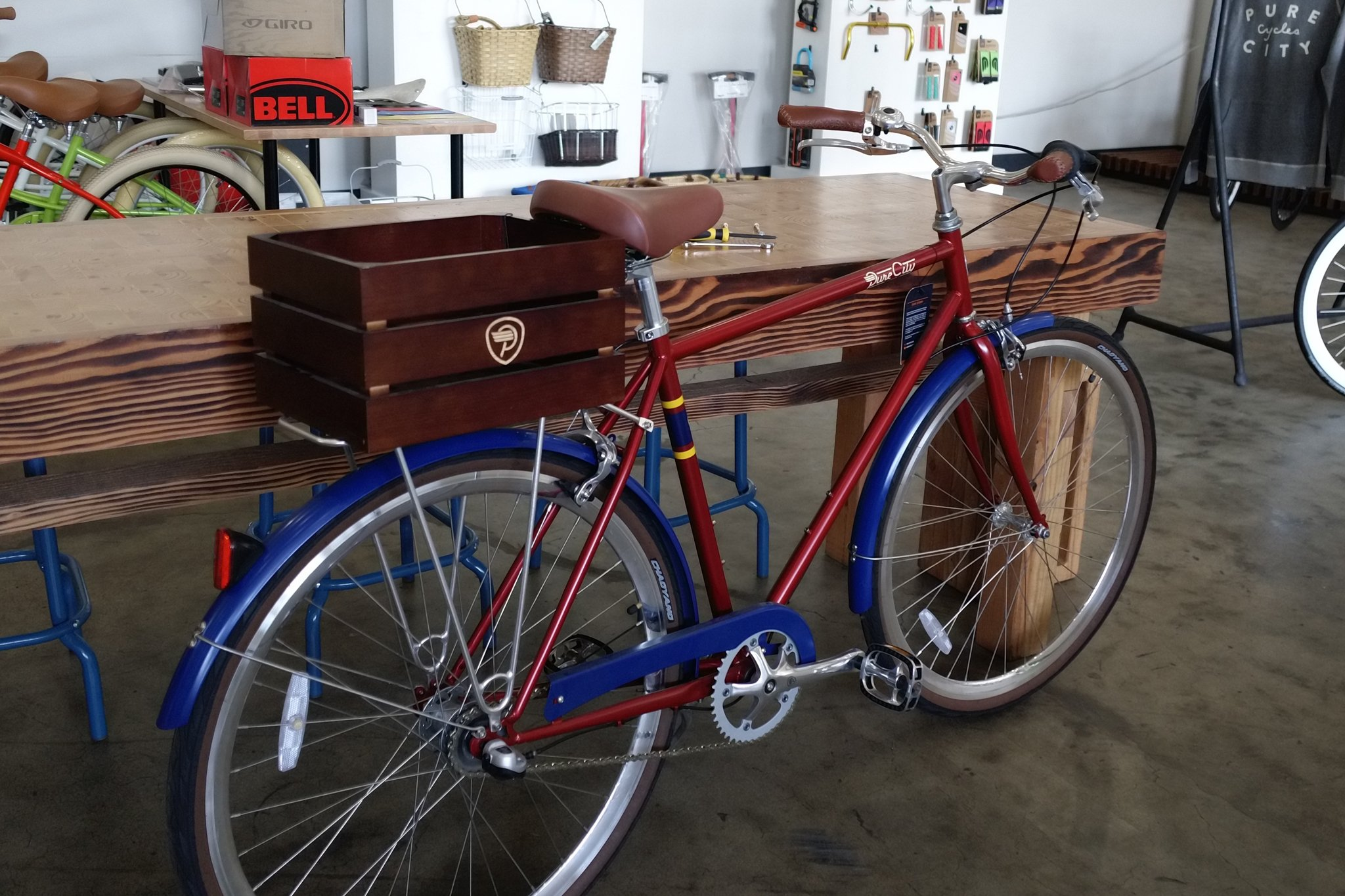 Pure City Classic Rear Mount Wooden Bicycle Crate