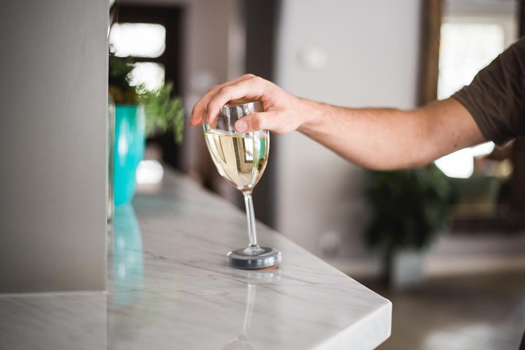 Wine Glasses Relaxing Barware
