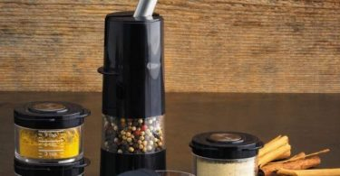 Kuhn Rikon 20477 Christopher Kimball's Milk Street Ratchet Spice Grinder with Storage Jar