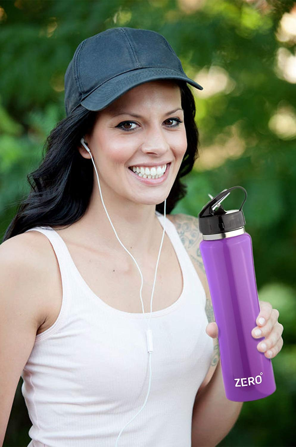 Zero Degree Stainless Steel Water Bottle with Straw and Leak Proof Lid
