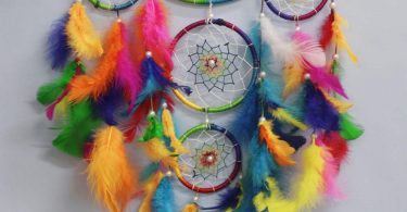 Asian Hobby Crafts Handcrafted Dream Catcher Wall Hanging with Natural Feathers
