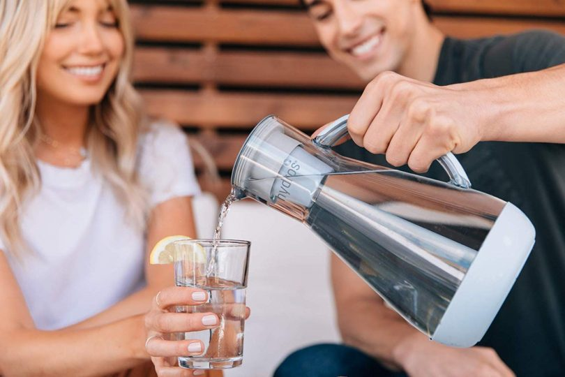 Hydros 8-Cup Water Filter Pitcher Powered by Fast Flo Tech