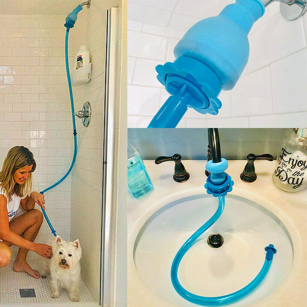 Rinseroo: Slip-on, No Installation, Handheld Showerhead Attachment Hose for Shower and Sink