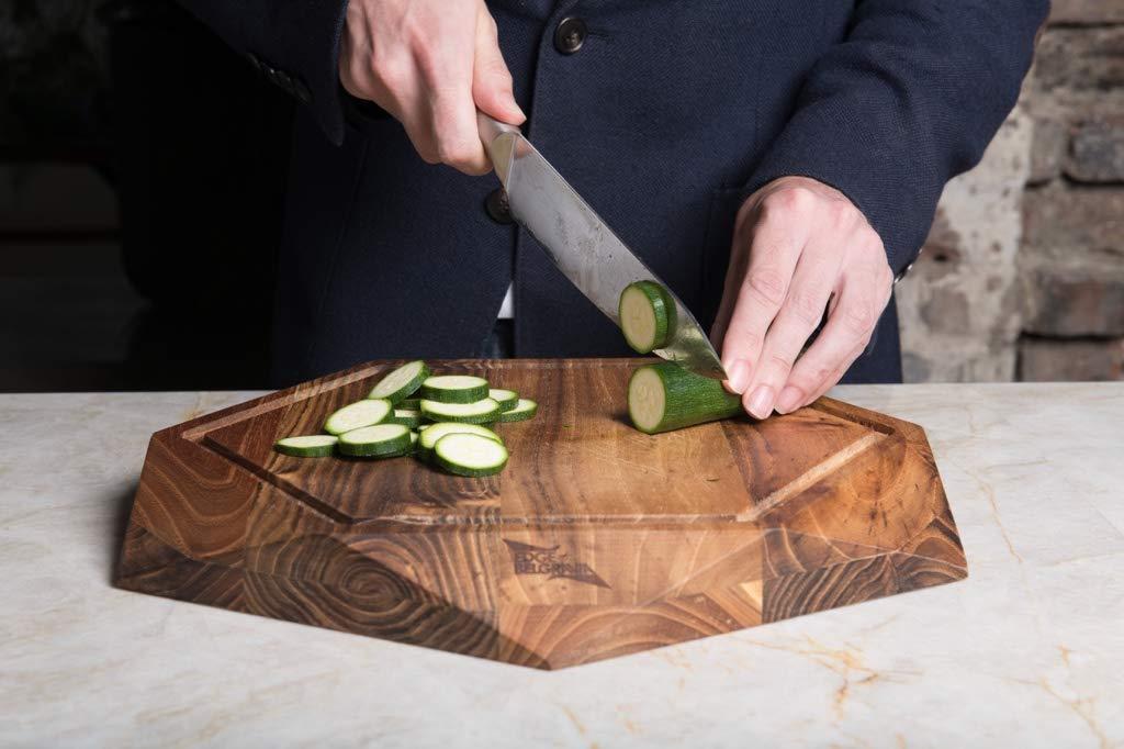 Edge of Belgravia Teak Star Wood Cutting Board
