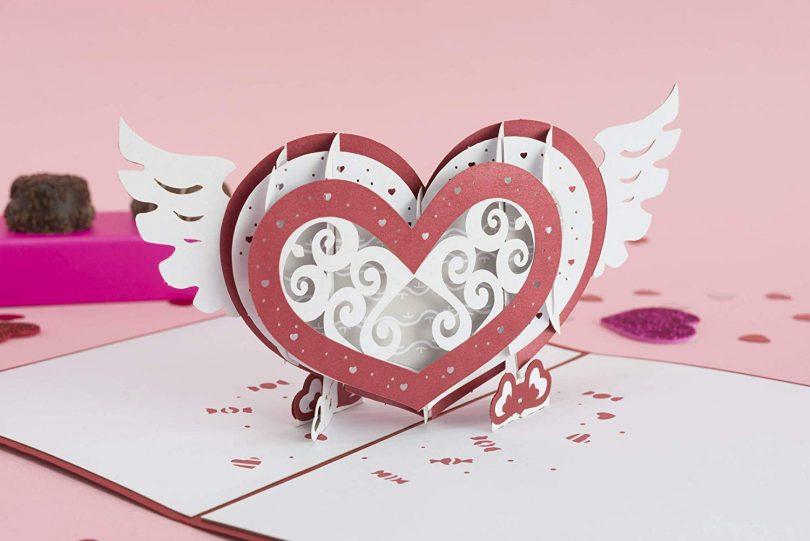 Lovepop Winged Heart Pop Up Card