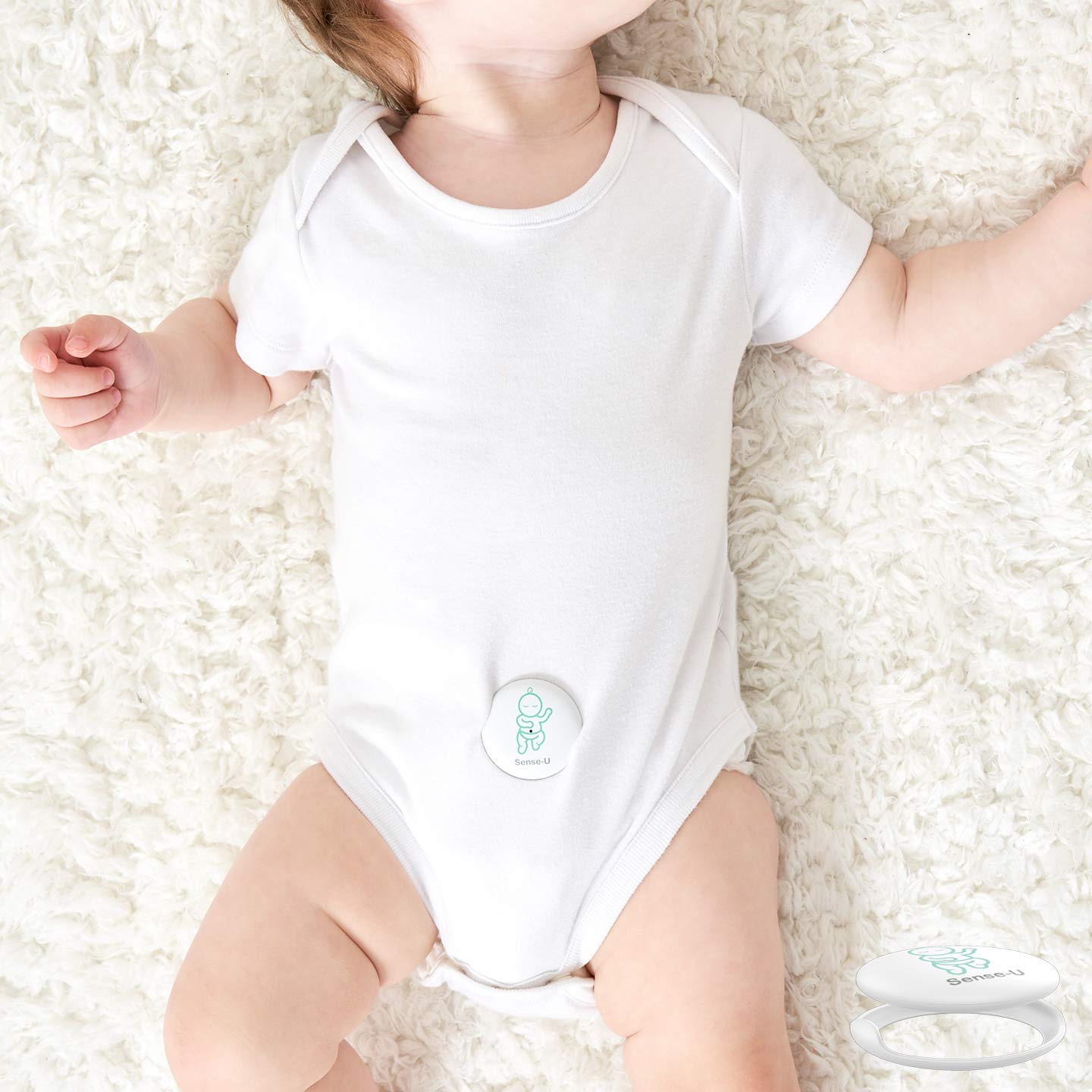 Sense-U Baby Breathing & Rollover Movement Monitor with a Free Swaddle