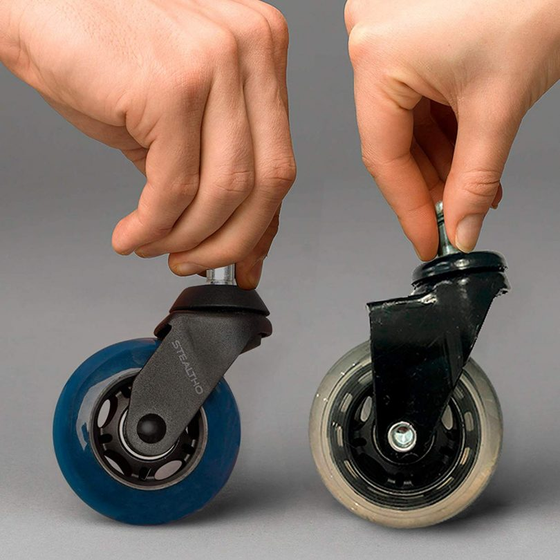 STEALTHO Replacement Office Chair Caster Wheels Set of 5