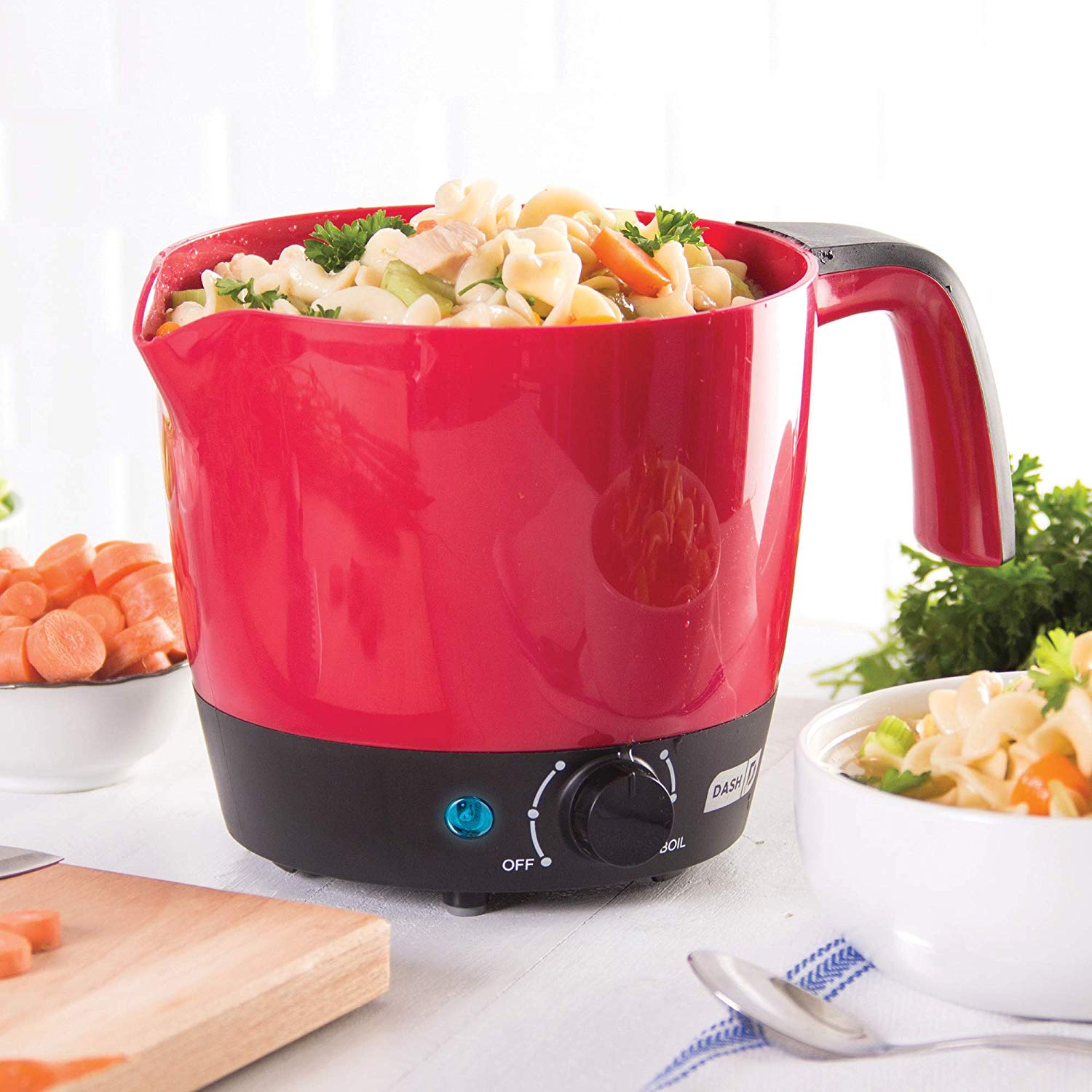 DASH DMC100RDDash Express Electric Cooker Hot Pot with Temperature Control for Noodles