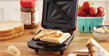 Dash Compact Panini Press + Electric Sandwich Maker Toasting