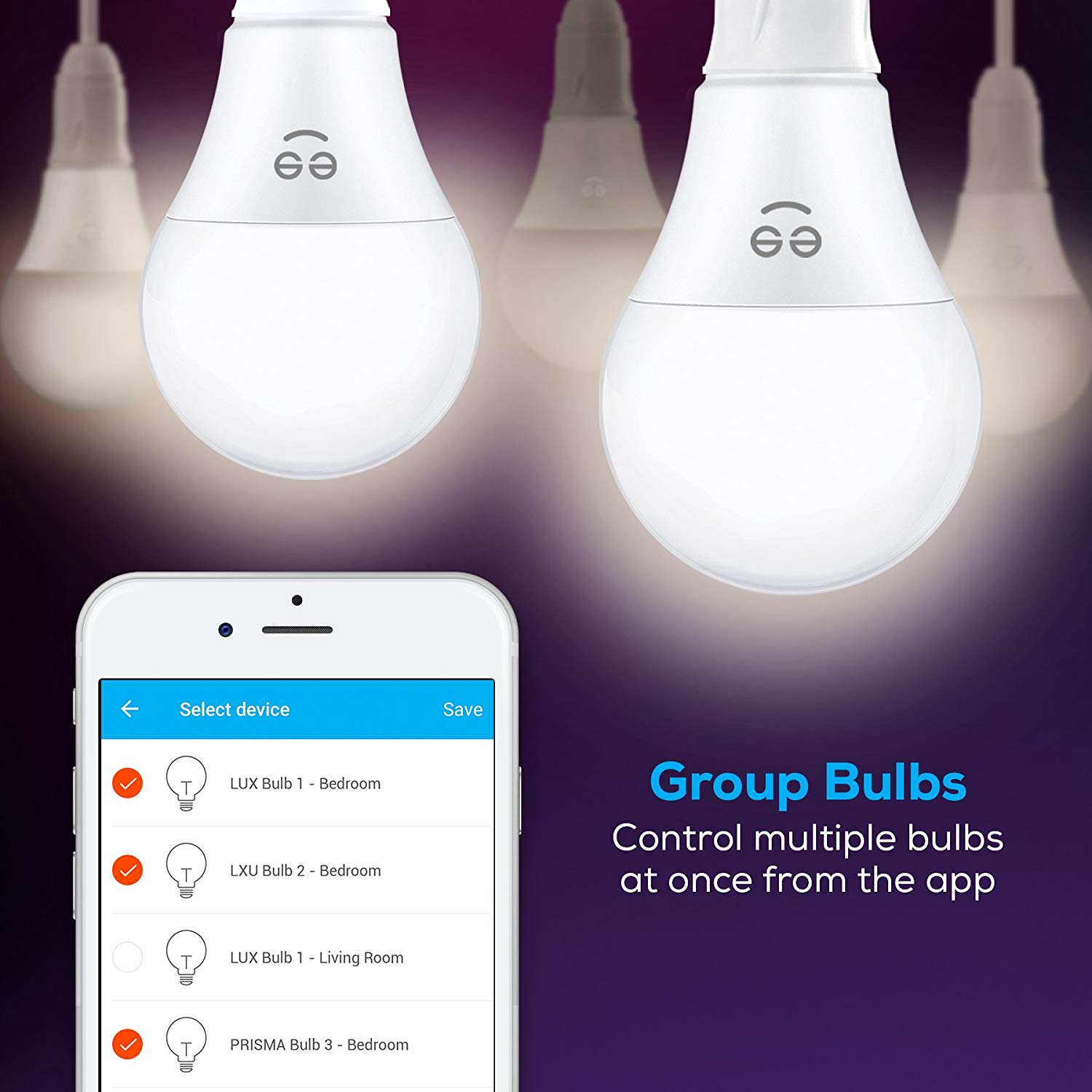 Geeni Lux 1050 A21 Smart Wi-Fi LED Tunable White Light Bulb