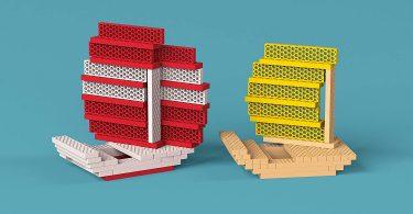 Tegu 120 Piece Perfect Blocks Building Set