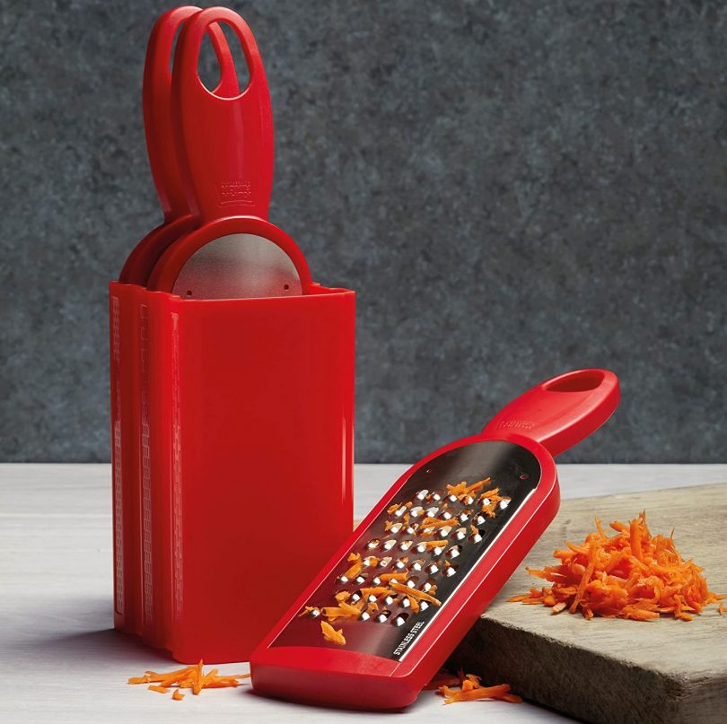 Kuhn Rikon Swiss Grater Set of 3 with Storage Caddy
