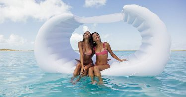 FUNBOY Giant Inflatable Rose Gold Crown Island Pool Float