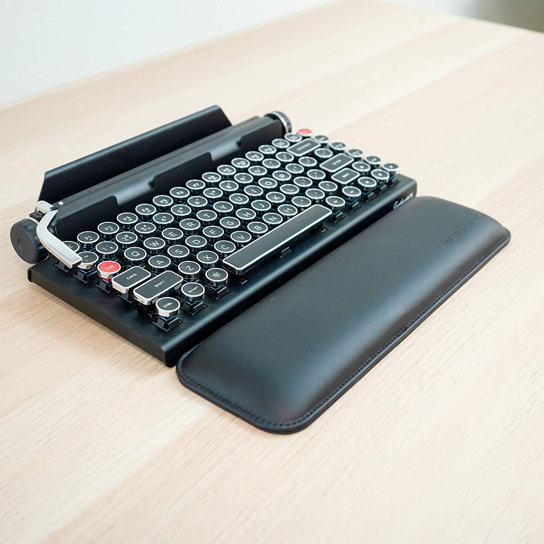 Qwerkywriter Official Ergonomic PU Leather Keyboard Wrist Pad Rest