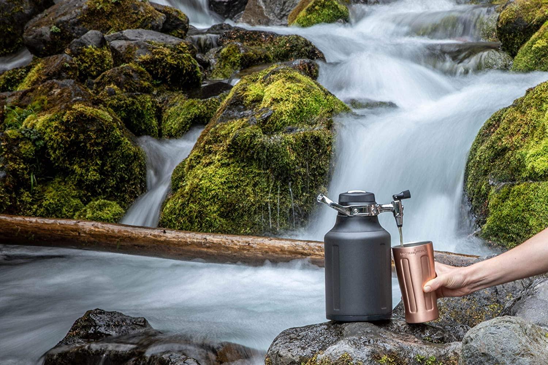 GrowlerWerks uKeg Go Carbonated Growler and Craft Beverage Dispenser for Beer