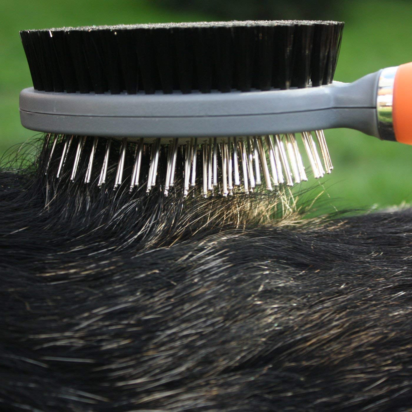 GoPets Professional Double Sided Pin and Bristle Brush for Dogs and Cats