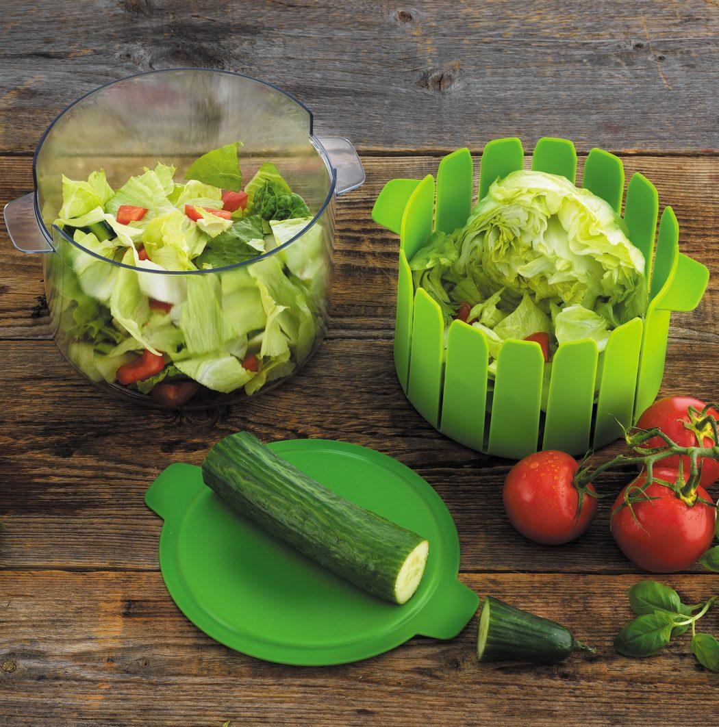 Kuhn Rikon Prep, Serve and Store Salad Maker and Cutting Board