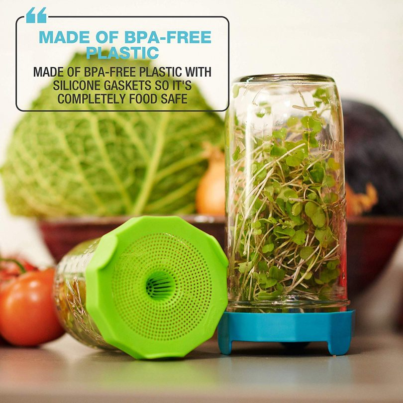 Masontops Bean Screen Plastic Mason Jar Sprouting Lids for Wide Mouth Mason Jars