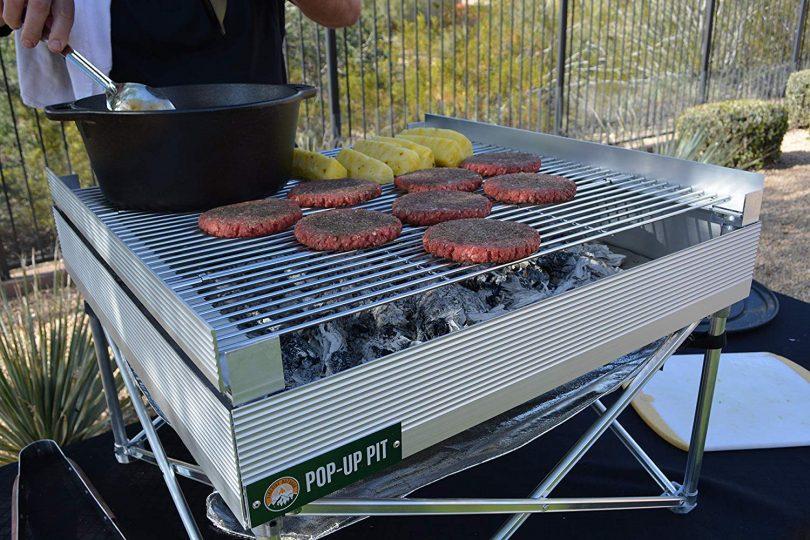 Campfire Defender Protect Preserve Pop Up Pit Portable Grilling Grates